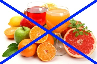 исключить фруктовую кислоту